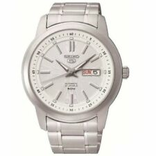 Brushed Case Stainless Steel Band 12-Hour Dial Wristwatches