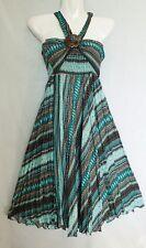New Smock Long Skirt Ladies Dress Boho Hippy Gypsy Coconut Belt Bohemian SC7