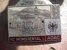 ADAC AUTOMOBILE CLUB Münstertal-PLACCA CAR BADGE EMBLEMA PLACCA