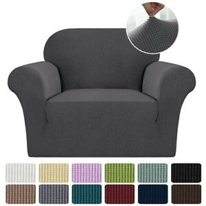 Premium Elastic Stretch Sofa covers Armchair Slipcover Protector Textured Fabric