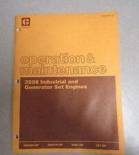 Caterpillar Cat 3208 Industrial Generator Engines Operation & Maintenance Manual