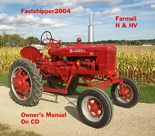 Farmall IH Tractor H & HV Owners Operators Owner's Manual Internationa Harvester