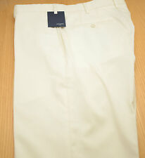 New INCOTEX White Ivory Super 120's Wool Men's Dress Pants NWT 34