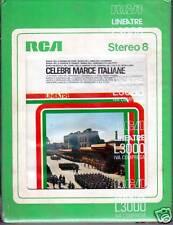 CELEBRI MARCE ITALIANE  -  STEREO 8 RARA SIGILLATA  Linea tre RCA