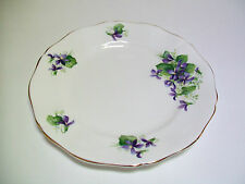 Royal Adderley Canadian Provincial Flowers Purple Violet Salad Plate 8""
