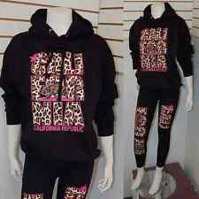 Cute California Republic Cali Pink Cheetah/ Leopard Pullover Sweater Hoodie L
