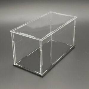 1x Clear Acrylic Display Case Stands Box Model Figure Showcase Dustproof Quality