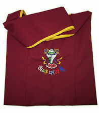 TRADITIONAL TOP QUALITY TIBETAN BUDDHIST MONK BAG EMBROIDERED MANI MANTRA NEPAL