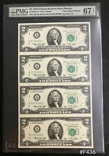 USA - 1976 $2 ( ** Star Note** )  4in1 UnCUT | PMG 67EPQ