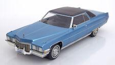 1972 Cadillac Coupe de Ville Light Blue Metallic by BoS Models LE of 1000 1/18