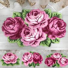3D Rose Flower Floor Door Mat Non Slip Area Rug Bedroom Living Room Carpet New