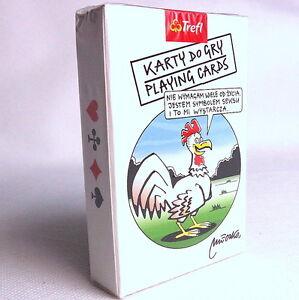 Satirical Playing cards Andrzej Mleczko. Satyryczne Karty do gry dla Dorosłych.
