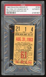 Stan Musial 3,000th Game #3000 1963 8/31/63 Phillies Cardinals Ticket Stub PSA