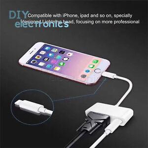 IP Interface to VGA/HDMI Digital AV Cable Adapter Apple iPhone 6 7 8 iPad US