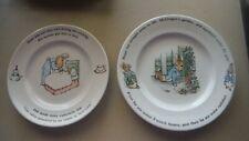 2- Wedgwood Peter Rabbit children's Plates