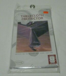 """Clear Vinyl Tablecloth Protector Oblong 70"""" x 90"""" New"""