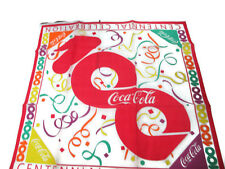 Coca-Cola  100th Anniversary Centennial Celebration Scarf- UNIQUE ITEM