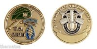 """ARMY AIRBORNE SPECIAL FORCES GREEN BERET MILITARY 1.75"""" CHALLENGE COIN"""