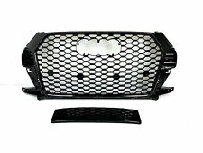 Parrilla frontal look rsq3 Black for audi q3 8u 15-17 wabengrill grille parachoques 13