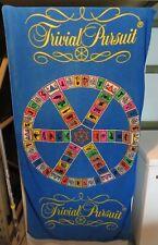 "Trivial Pursuit Board Game Beach Towel 30"" x 60"" Vintage Used Franco Japan 1981"