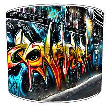 Modern Urban Street Art Graffiti Style Ceiling Light Shades Or Table Lampshades.