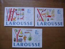 lot 2 de 3 Buvards Blotting paper LAROUSSE lettre W,X,Y bis