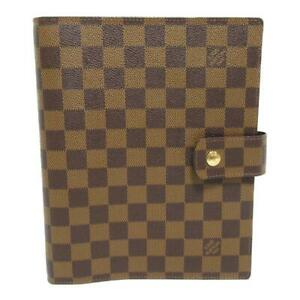 LOUIS VUITTON Agenda GM notebook cover R20107 Damier Brown Used