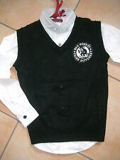 (818) RARE-The Kid Boys Pullover inkl Hemd Logo Monkey Aufnäher und Druck gr.128