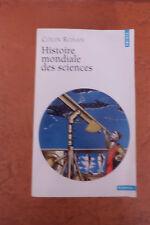 Histoire mondiale des sciences Ronan Colin