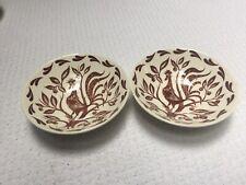 Homer Laughlin Dura-Print Brown Chanticleer Fruit Bowls Set of 2