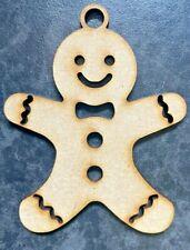 Wooden Laser Cut Gingerbread ManEmbellishment 3mm MDF 6 Pack Christmas Crafts