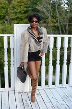 Mint Designer Unique gray Sapphire Mink fur coat jacket bolero stroller M 4-10