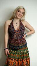 Women's Print Cotton backless Halter Neck Top vest hippy alternative festival