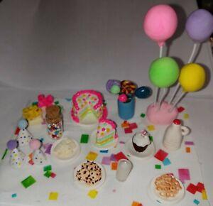 Dollhouse Birthday Celebration Loose Set Cake Snacks Balloons