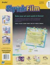 Grafix KSF6-C 8-1/2-Inch by 11-Inch Shrink Film, Clear, 6-Pack