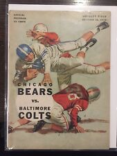 1959 Chicago Bears Baltimore Colts official NFL PROGRAM FOOTBALL wrigley field