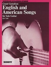 English and American Songs for Solo Guitar Sheet Music NEW Schott 049006987