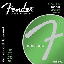 Fender 9050M Stainless Steel Flatwound Medium Long Scale Bass Strings (55-105)