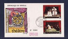 ASg/ Sénégal  enveloppe  1er jour   journée du théatre   1972