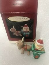 1994 Hallmark Keepsake Christmas Ornament Nephew Santa Sleigh Reindeer