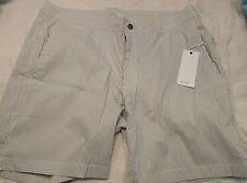 Onia Calder Stretch Cotton Blend Gray Stripe Swim Trunks NWT 38 $145