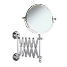 Modern Wall Mounted Extending Chrome Round Magnification Bathroom Mirror