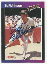 Autographed Signed 1989 Donruss 229 Ed Whitson San Diego Padres Tough Signature