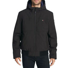 NEW Men's Tommy Hilfiger Mens Soft Bomber Jacket SZ XL Black