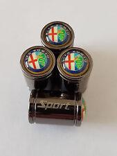 ALFA ROMEO Sport Titanium Deluxe Alloy Valve Dust Caps All  MITO 4C Giulia Veloc