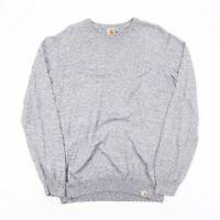 Vintage CARHARTT Grey Fine Knit Pullover Jumper Men's Size Medium