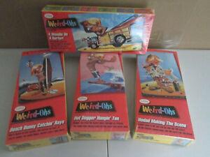 "Hawk /Testors Weird-Ohs ""Silly Surfers"" Lot of (4) Plastic Model Kits New/Sealed"
