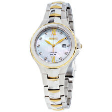 Seiko Coutura Solar Movement Mother of Pearl Dial Ladies Watch SUT308 *Open Box*