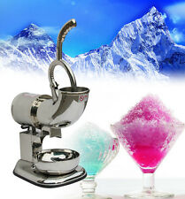 110V Stainless Steel Snow Cone Maker Machine Ice Shaver Crusher 2000 runs/min