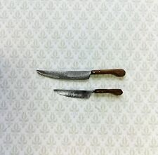 Dollhouse Miniature Kitchen Knives 2 Large Sir Thomas Thumb 1:12 Scale Knives